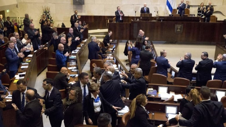 """الكنيست يقر قانون """"الدولة القومية"""" في إسرائيل"""