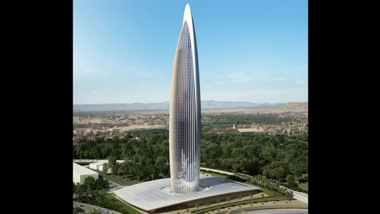 صمم برج بنك أفريقيا المهندسان المعماريان رافاييل دي لا هوز وحكيم بنجلون.
