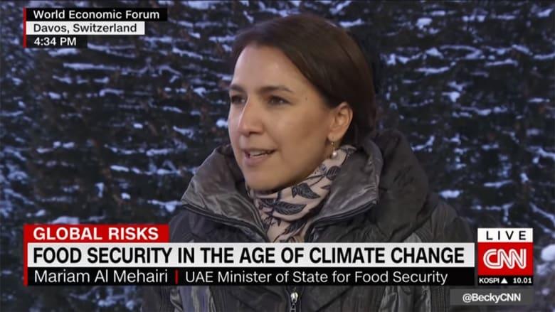 لماذا تحتاج الإمارات لوزيرة أمن غذائي؟ المهيري توضح لـCNN