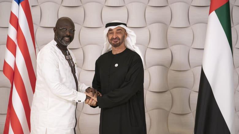 بعد أن كان محترفا في الجزيرة.. جورج وياه يزور الإمارات كرئيس ليبيريا