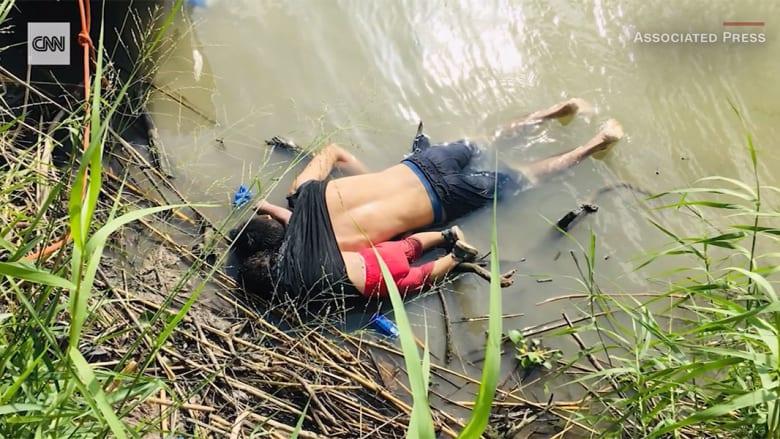 صورة صادمة لجثتي أب وابنته على ضفاف نهر تلقي الضوء على أزمة الحدود بين أمريكا والمكسيك