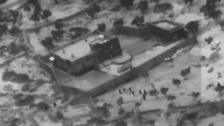 جيش أمريكا ينشر فيديو عملية قتل البغدادي زعيم داعش وكيف انتحر بقنبلة مع طفلين