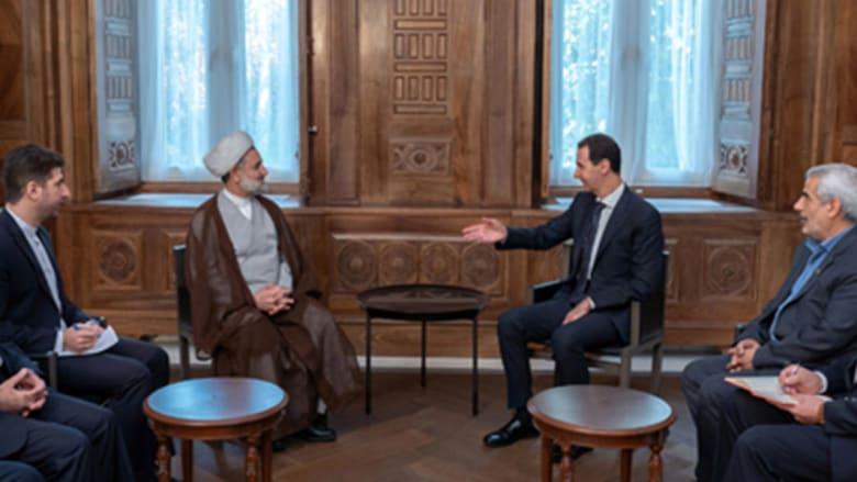 بشار الأسد مع مجتبى ذو النوري