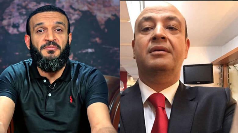 عمرو أديب (يمين) وعبدالله الشريف