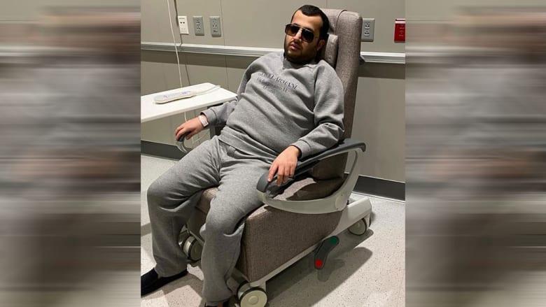 صورة ارشيفية لتركي آل الشيخ خلال اجرائه فحوصات طبية