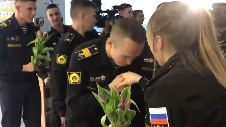 الاحتفال بالمجندات الروس بيوم المرأة