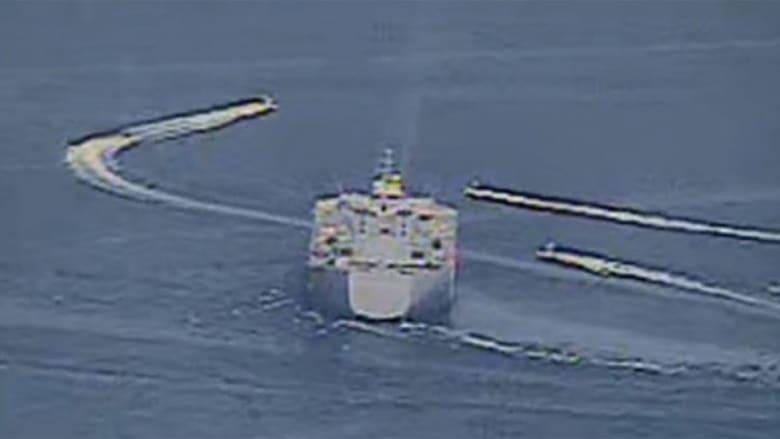 قوارب إيرانية تتحرش بسفينة أمريكية في 16 أبريل 2020