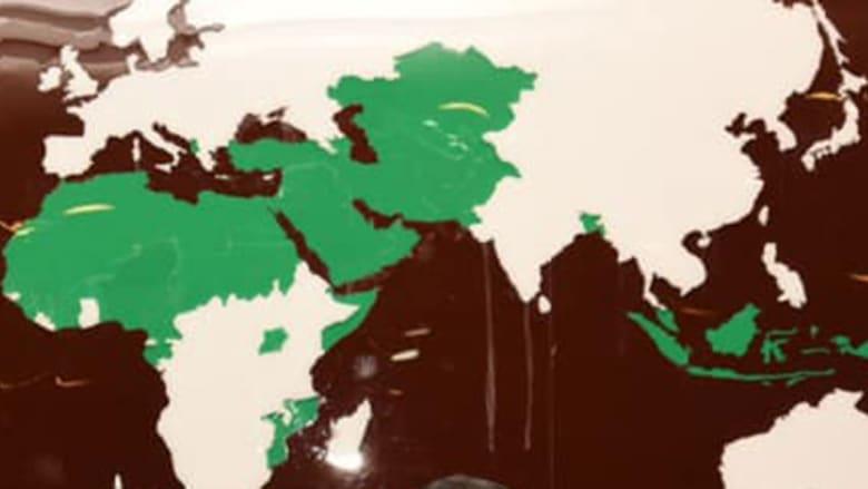 خريطة تظهر الدول الأعضاء بمنظمة التعاون الإسلامي