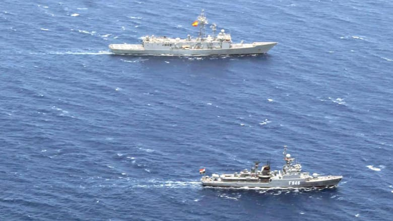 من المناورة البحرية المصرية الإسبانية