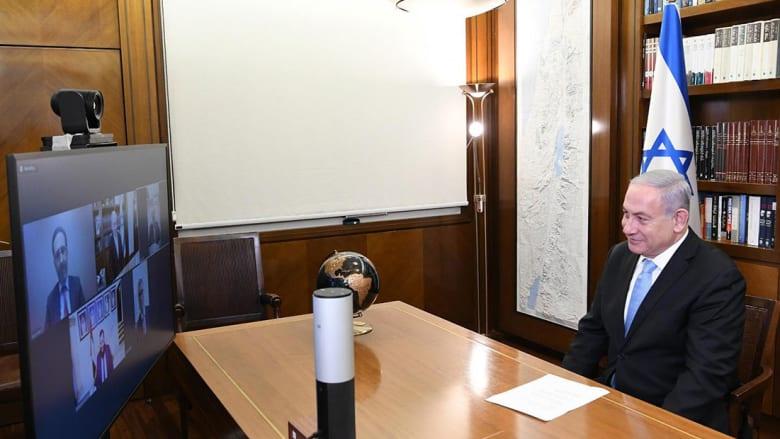 """نتنياهو في """"فيديو كونفرنس"""" مع رؤساء الجالية اليهودية في الإمارات"""