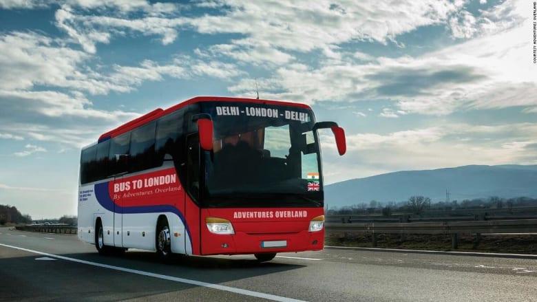 """""""رحلة العمر"""".. هذه الحافلة ستأخذك من دلهي إلى لندن خلال 70 يوماً"""