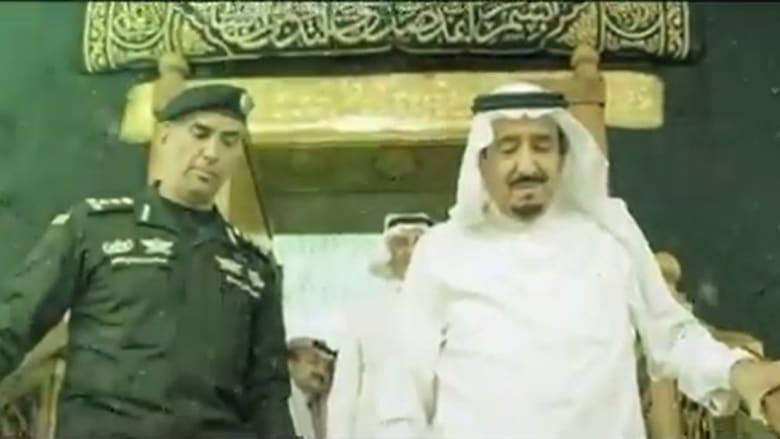 صورة أرشيفية لعبدالعزيز الفغم برفقة العاهل السعودي الملك سلمان بن عبدالعزيز