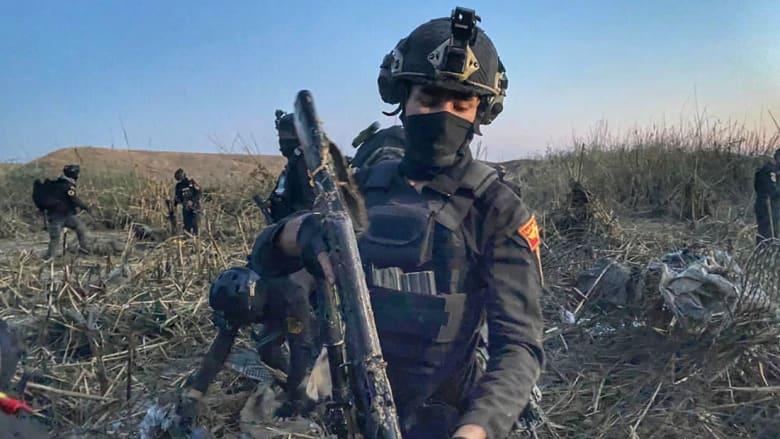 صور لعناصر بالقوات العراقية خلال العملية