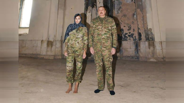 الرئيس إلهام علييف، وزوجته مهيربان