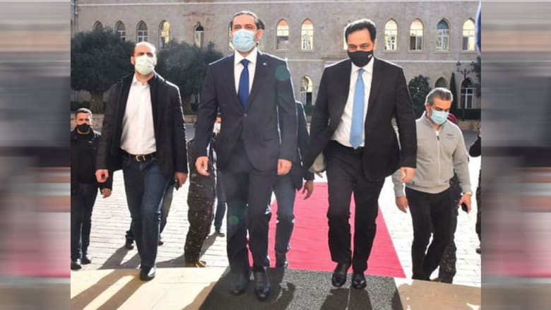إحدى الصور التي نشرها الحريري مع دياب