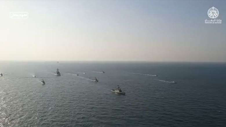 من المناورات البحرية في لقطة نشرتها الدفاع السعودية