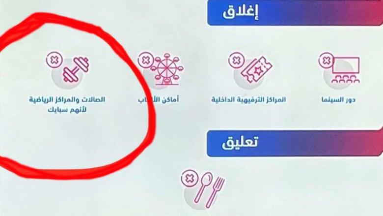 لوحة العرض خلال المؤتمر الأسبوعي للصحة السعودية