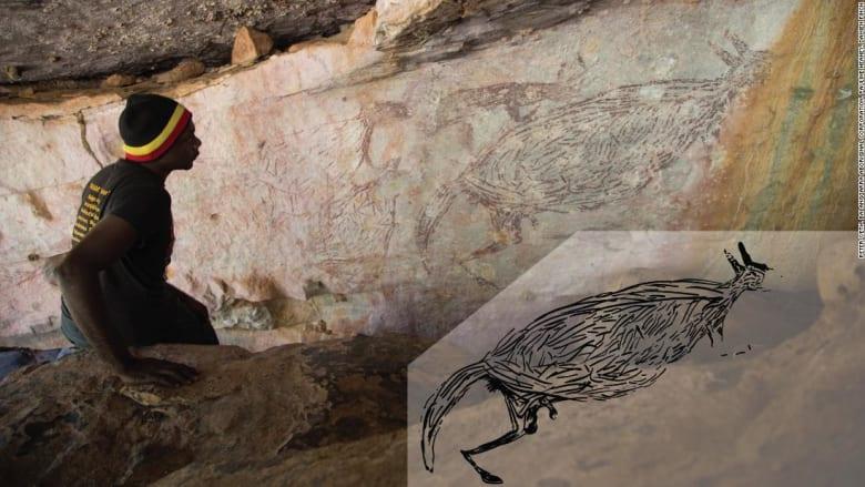 رسمت منذ آلاف السنين.. صورة كنغر تعد أقدم فن صخري معروف بأستراليا
