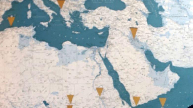 صورة أرشيفية (تعبيرية) لجزء من منطقة الشرق الأوسط (ليست الخريطة التي نشرتها القناة التركية)