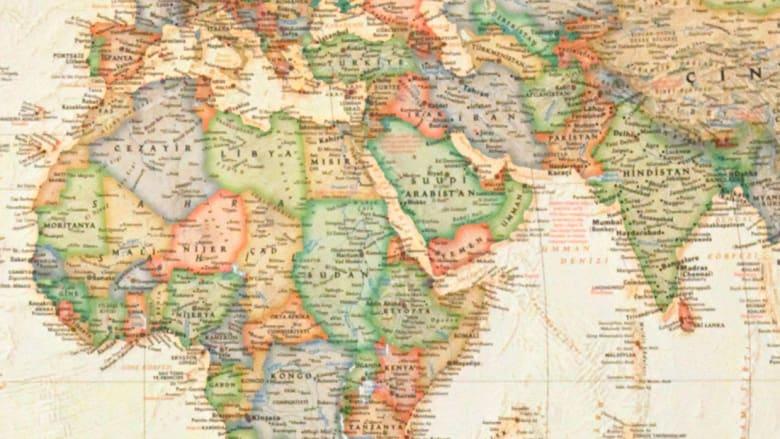 صور ة أرشيفية لخارطة الشرق الأوسط