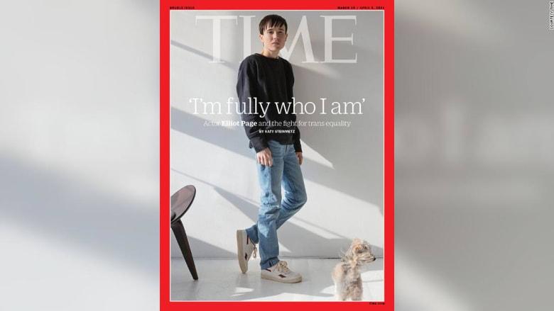 """إليوت بيج يصبح أول رجل متحول جنسياً على غلاف مجلة """"تايم"""" الأمريكية"""