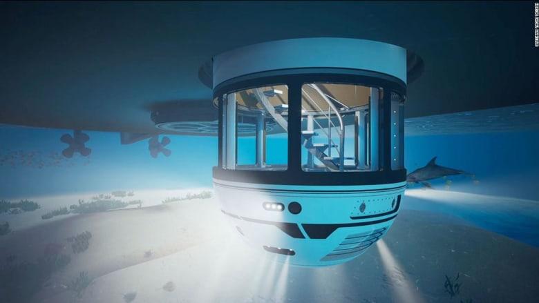 أشبه بركوب غواصة..مفهوم جديد يمكنه نقل ركاب اليخوت الفائقة تحت الماء في غضون دقائق
