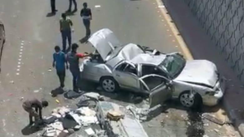صورة نشرتها إمارة منطقة مكة للحادث