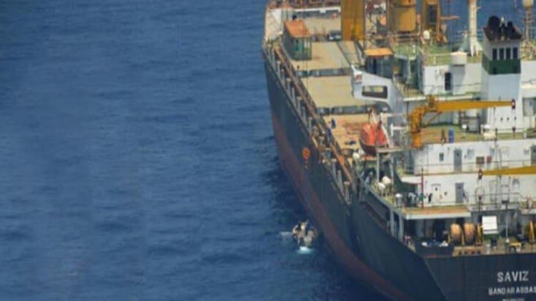 صورة للسفينة سافيز نشرتها وكالة لاأنباء الإيرانية الرسمية