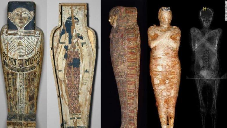 علماء يكشفون عن أول مومياء مصرية حامل