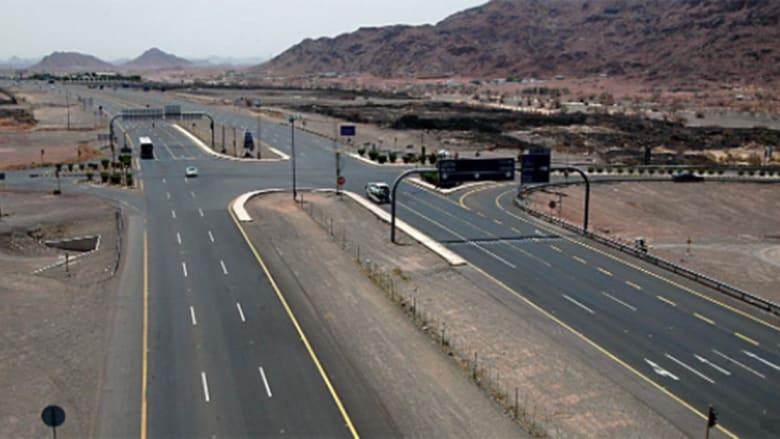 صورة أرشيفية لأحد الطرق المؤدية للمدينة المنورة بالسعودية