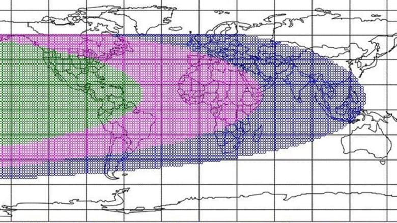 خارطة رؤية هلال عيد الفطر 2021 وفقا لمركز الفلك الدولي