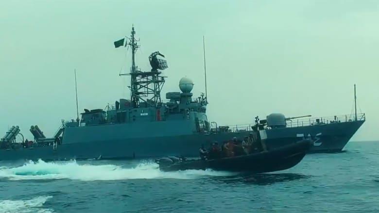 صورة ارشيفية لقطع بحرية عسكرية سعودية