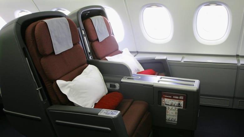 """خطوط """"كانتاس"""" الأسترالية تعرض مقعدين من طائرتها للبيع بمزاد"""