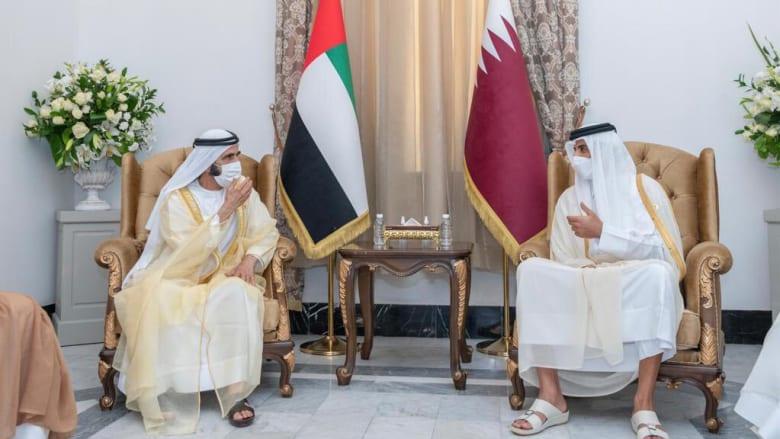 محمد بن راشد يلتقي تميم بن حمد ويؤكد: أمير قطر شقيق وصديق
