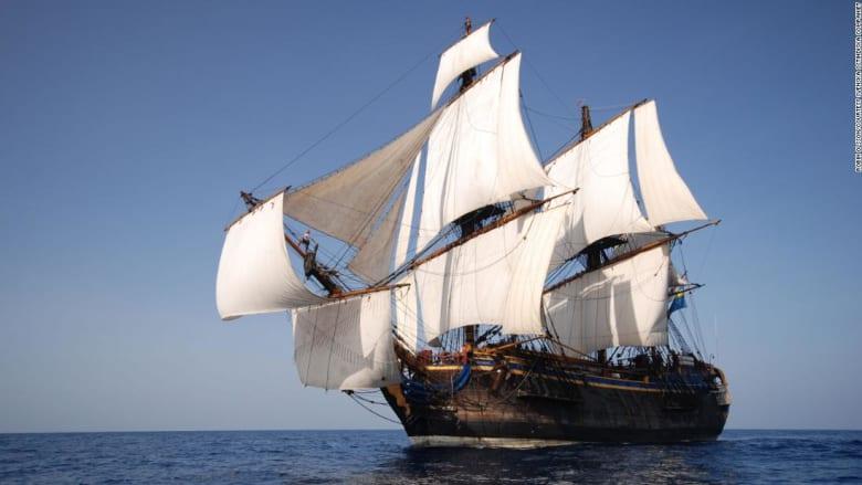 سفينة تنتمي إلى القرن الـ18 تخطط للإبحار على طريق تجاري من السويد إلى الصين