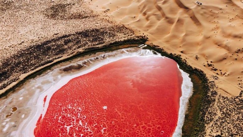 من بحيرة وردية إلى حقول أرز أشبه بمتاهة.. شاهد جمال الصين من الأعلى عبر هذه الصور
