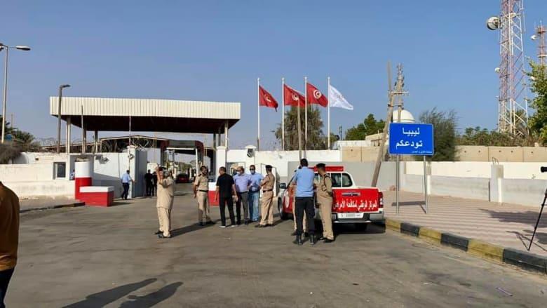 معبر راس جدير الحدودي بين ليبيا وتونس