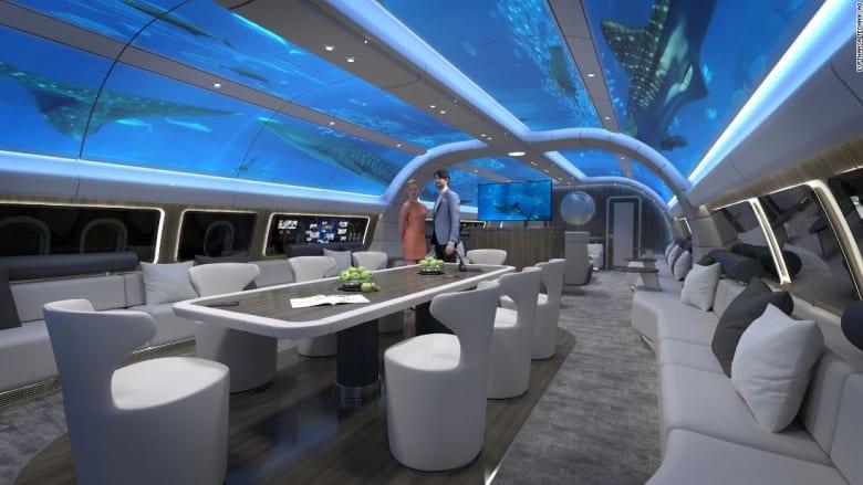 """مفهوم طائرة جديد بمقصورة """"تحت الماء"""".. كيف ذلك؟"""