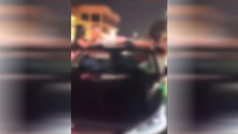 صورة من مقطع الفيديو الذي نشرته الداخلية السعودية