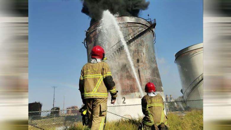 من موقع الحريق