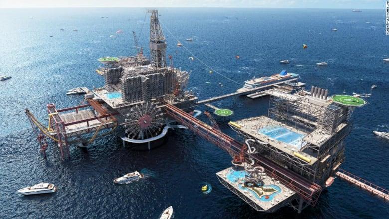 السعودية تعلن عن منتزه سياحي مستوحى من منصات النفط البحرية في الخليج العربي