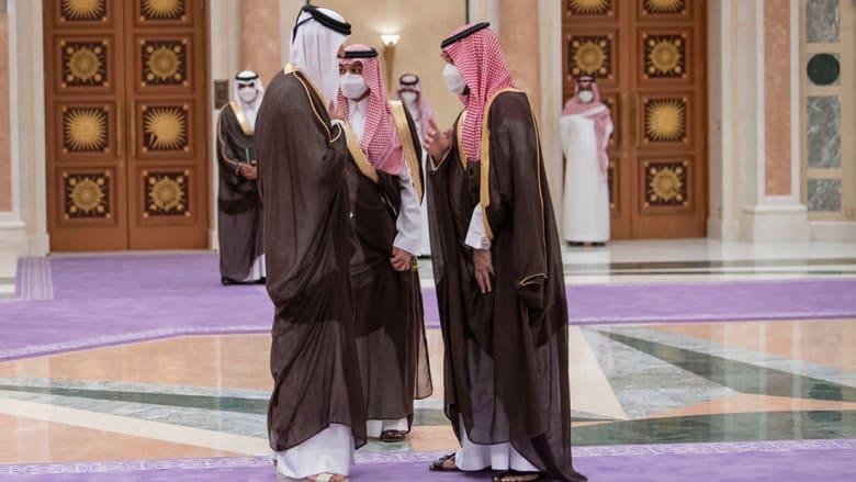 استقبال ولي العهد السعودي لأمير قطر