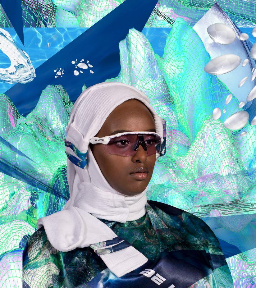 """بتصاميم """"جريئة"""".. فنانة تعطي لمحة عن """"حجاب المستقبل"""""""