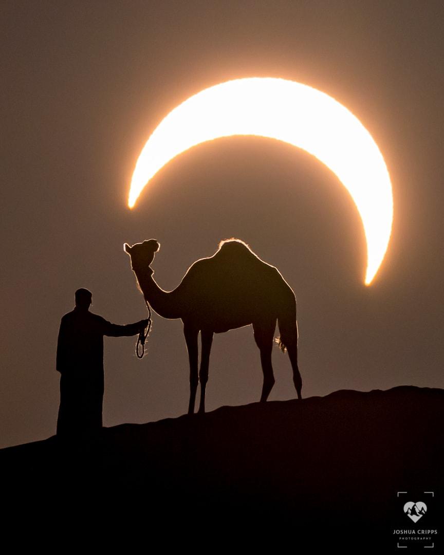 الكسوف الحلقي في صحراء الإمارات