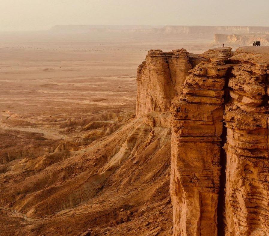 هل تجرؤ الوقوف على حافة العالم بالسعودية؟