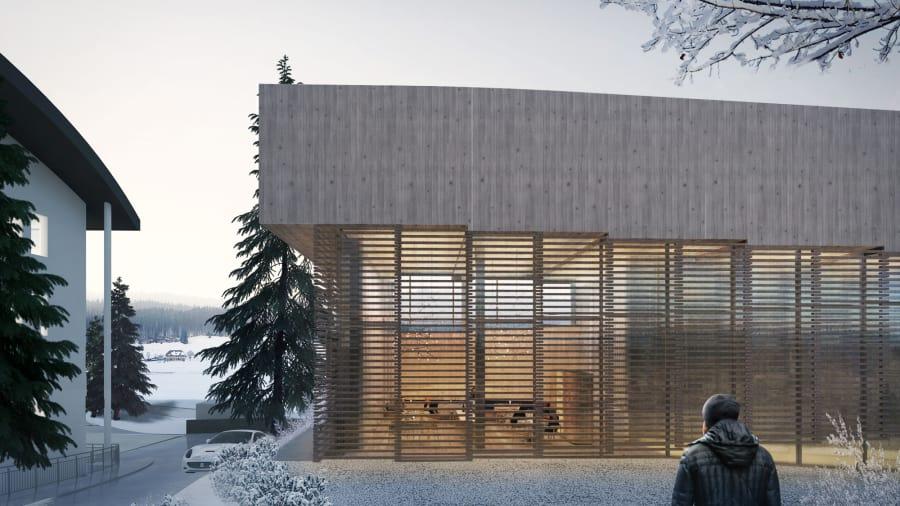 ما رأيك بالتزلج أسفل سطح هذا الفندق السويسري الجديد؟