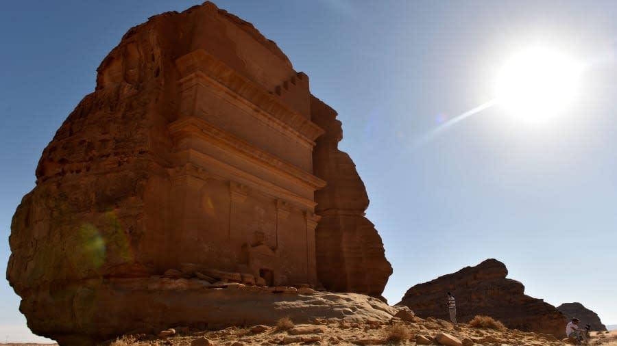 القصر الفريد في مدائن صالح بالمملكة العربية السعودية
