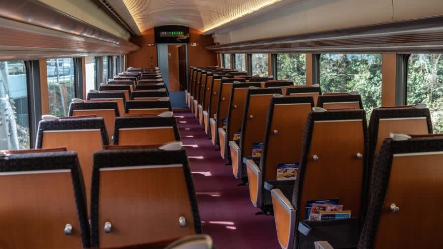 القطار السياحي في اليابان