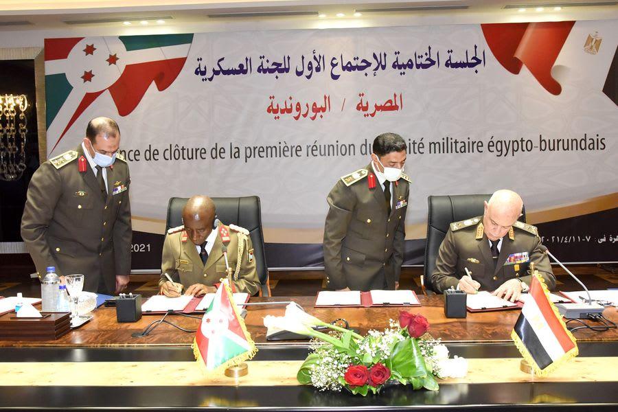 الثالث خلال شهر.. مصر توقع بروتوكول تعاون عسكري مع بورندي وسط تصاعد الأزمة مع إثيوبيا