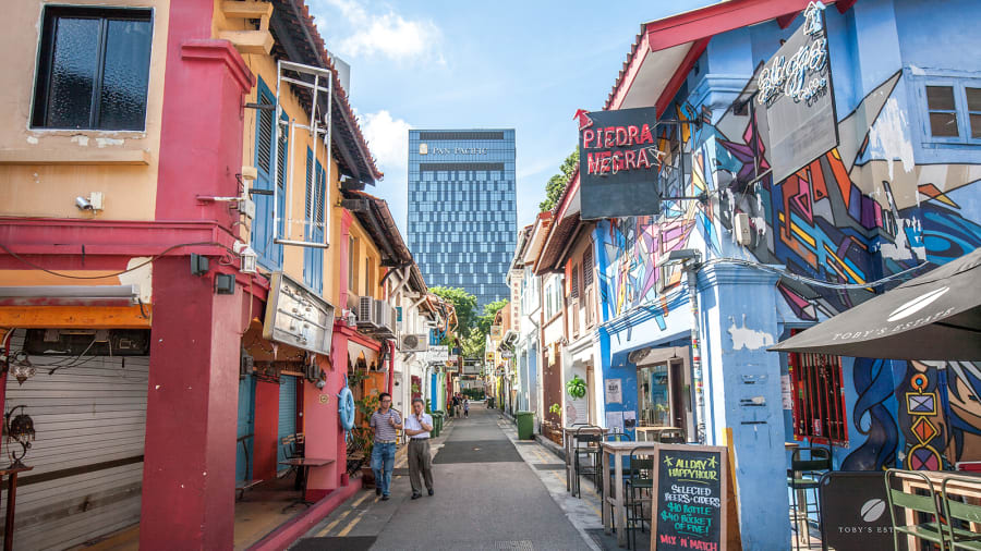 """شارع """"حاجي لاين"""" في سنغافورة"""